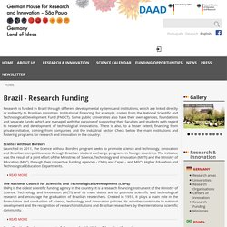 Brazil - Research Funding