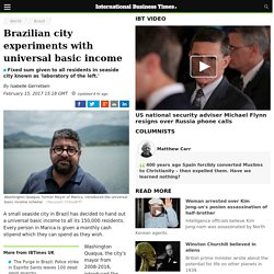 Brazilian city experiments with universal basic income