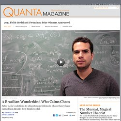 Artur Avila Is First Brazilian Mathematician to Win Fields Medal
