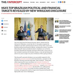 NSA's Top Brazilian Political and Financial Targets Revealed by New WikiLeaks Disclosure
