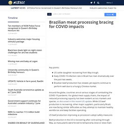 MIRAGE NEWS 04/06/20 Brazilian meat processing bracing for COVID impacts