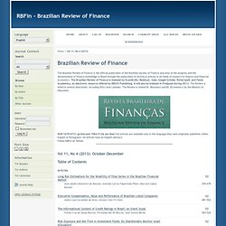 Brazilian Review of Finance