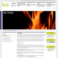 Fire testing