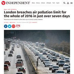 London breaches air pollution limit for the whole of 2016 in just over seven days