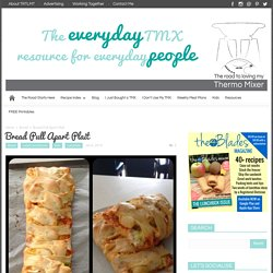 Bread Pull Apart Plait - The Road to Loving My Thermo Mixer