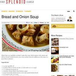 Bread and Onion Soup