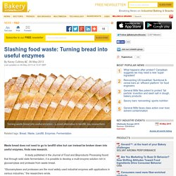 Bread waste into enzymes: Study