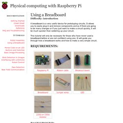 Using a Breadboard - Physical Computing with Raspberry Pi