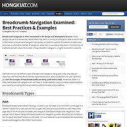 Breadcrumb Navigation Examined: Best Practices & Examples