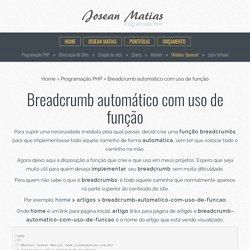 Breadcrumb automático com uso de função