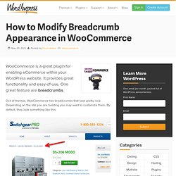 How to Customize the Breadcrumb Appearance in WooCommerce