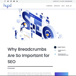 Why Breadcrumbs are So Important for SEO - Web Developement & Digital Marketing Services in USA