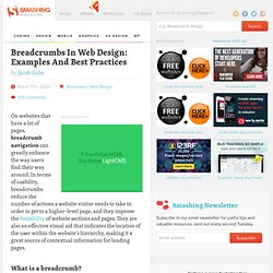 Breadcrumbs In Web Design: Examples And Best Practices
