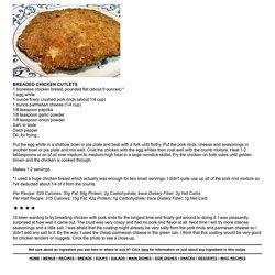 BREADED CHICKEN CUTLETS - Linda's Low Carb Menus & Recipes