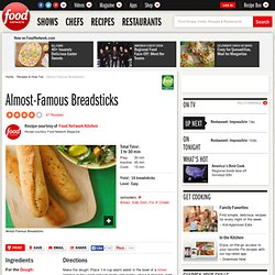 Almost-Famous Breadsticks Recipe : Food Network Kitchens