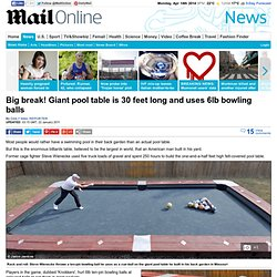 Big break! Giant pool table is 30 feet long and uses 6lb bowling balls