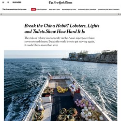Break the China Habit? Lobsters, Lights and Toilets Show How Hard It Is