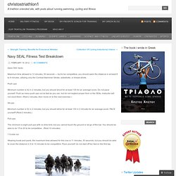 Navy SEAL Fitness Test Breakdown « christostriathlon1
