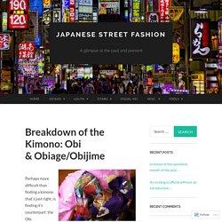 Breakdown of the Kimono: Obi & Obiage/Obijime