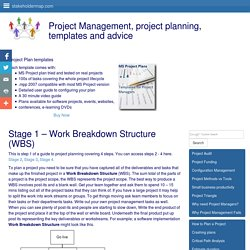 Work Breakdown Structure - how to create a WBS to plan a project