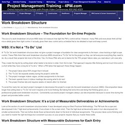 Work Breakdown Structure Foundation for Assignments
