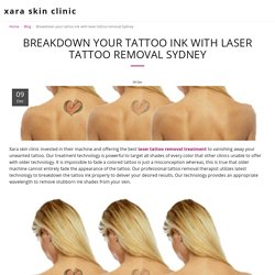 Breakdown your tattoo ink with laser tattoo removal Sydney