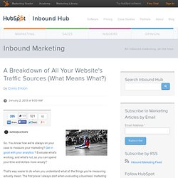 A Breakdown of All Your Website's Traffic Sources (What Means What?)