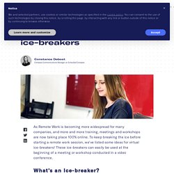 5 ideas for remote ice-breakers - Schoolab Innovation