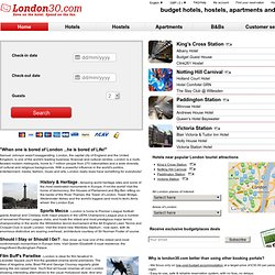 London cheap hotels, hostels, apartments and b&bs, London30