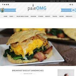 Breakfast Biscuit Sandwiches - PaleOMG.com