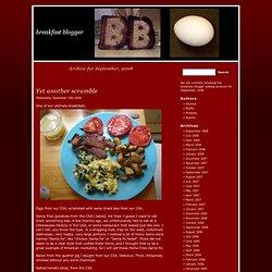 breakfast blogger » 2008 » September