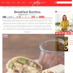 Breakfast Burritos - What's Gaby Cooking