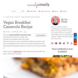 Vegan Breakfast Biscuit Casserole