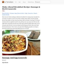 Make-Ahead Breakfast Recipe: Sausage & Herb Casserole