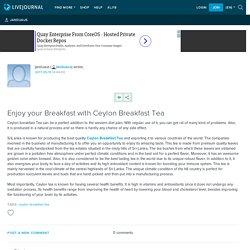 Enjoy your Breakfast with Ceylon Breakfast Tea: janduaus