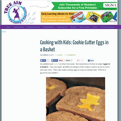 Cookie Cutter Eggs in a Basket, Fun Breakfast for Kids!