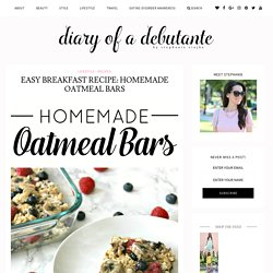 Easy Breakfast Recipe: Homemade Oatmeal Bars