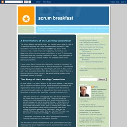 Scrum Breakfast: A Brief History of the Learning Consortium