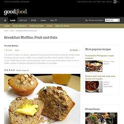 Breakfast Muffins: Fruit and Oats Recipe