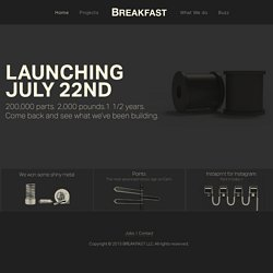 BREAKFAST - A physical-digital interactive agency based in New York