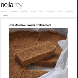 Breakfast No-Powder Protein Bars