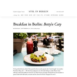 Breakfast in Prenzlauer Berg: Betty'n Caty