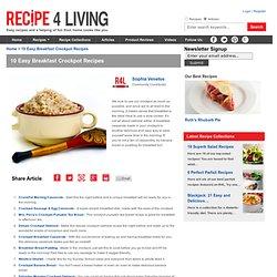 10 Easy Breakfast Crockpot Recipes