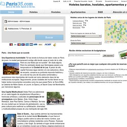 Hoteles Baratos, Bed and Breakfasts, Apartamentos y Hostales en París | Paris35.com