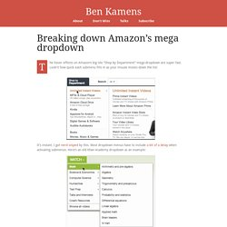 Breaking down Amazon's mega dropdown