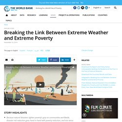 Breaking the Link Between Extreme Weather and Extreme Poverty