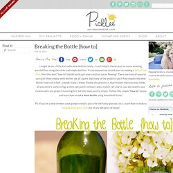 Breaking the Bottle {how to}