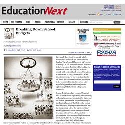 Breaking Down School Budgets