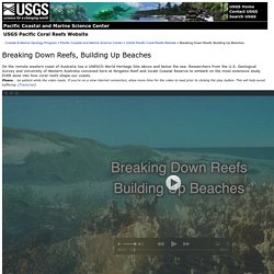 Video: Breaking Down Reefs, Building Up Beaches