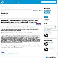 BREAKING: HP Files Civil Complaint Against Hurd; I